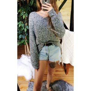 🌿 Vintage • Cozy Gray Speckled Knit Sweater 🌿